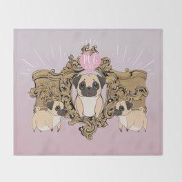 Pug Love Throw Blanket