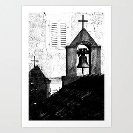 Church in Rose / Montenegro Art Print