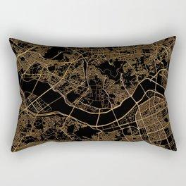 Black and gold Seoul map Rectangular Pillow