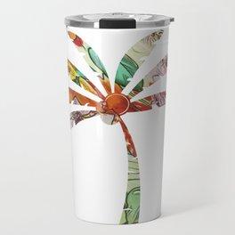 Palm Tree Fabric Travel Mug