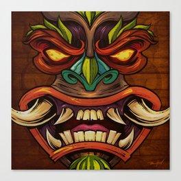 Tiki Head Style 4 Canvas Print