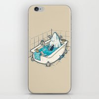 bath iPhone & iPod Skins featuring BATH TIME by Letter_q