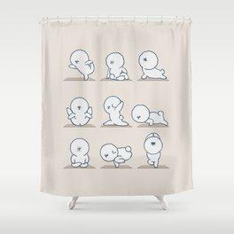 Bichon Frise Yoga Shower Curtain