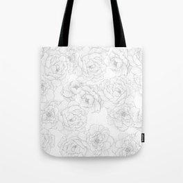 Peony Flower Pattern Tote Bag