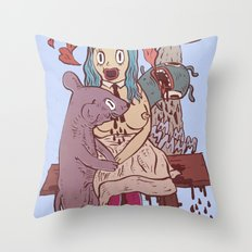 Let's get friendly, stranger Throw Pillow