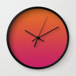 Pink Orange Red Gradient Pattern Wall Clock