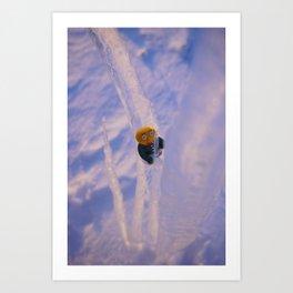 ice climbing gwerg Art Print