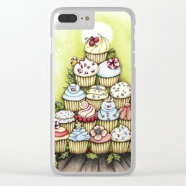cupcake christmas tree Clear iPhone Case