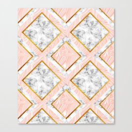 Gold and marble Canvas Print