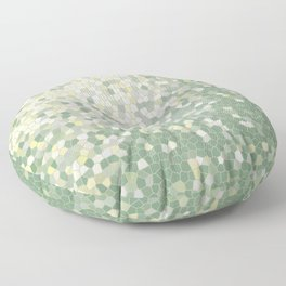 Yellow and Sage Green Mosaic Pattern Floor Pillow