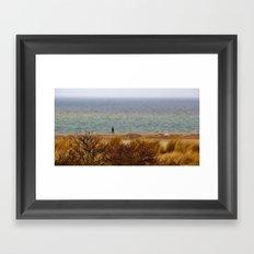 A thoughtful walk Framed Art Print