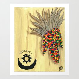 Indian Corns - Harmony Art Print