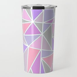 Pastel Shards Geometric Pattern Travel Mug