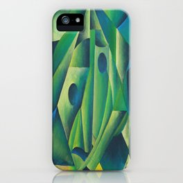 Cubist Abstract Of Village Woman Wearing A Headscarf iPhone Case