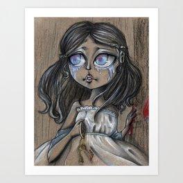 Blue Bear's Wife Art Print