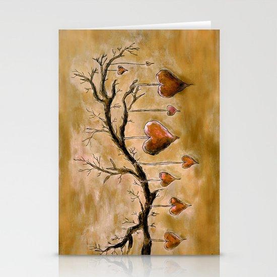 Der Liebesbaum (in Acryl) Stationery Cards