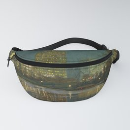 Central Park and Plaza Hotel, NY, NY by William Anderson Coffin Fanny Pack