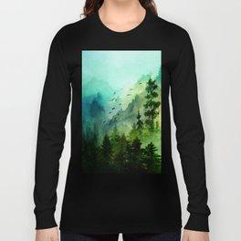 Mountain Morning Langarmshirt