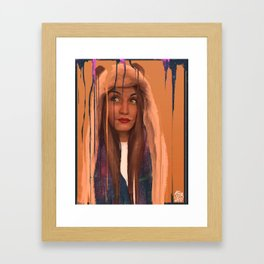 What are you drawing Ryan? // 154 Framed Art Print