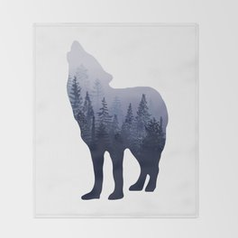 Wolf Forest Throw Blanket