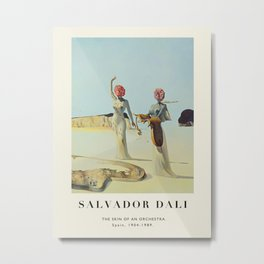 Poster-Salvador Dali-The Skin of an Orchestra. Metal Print