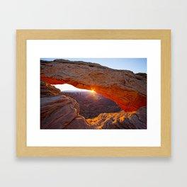 Mesa Arch Sunburst Framed Art Print