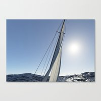 sail Canvas Prints featuring Sail by lalula