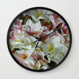 Pastel lilies Wall Clock