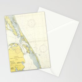 Vintage Map of The Outer Banks (1942) Stationery Cards