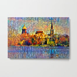 Notre Dame: A View From the Lake Metal Print