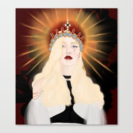 watch the queen conquer Canvas Print