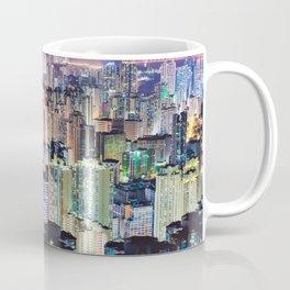 Kam Shan Country Park City-scape, Hong Kong nighttime portrait #1 Coffee Mug