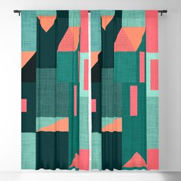 Teal Klee houses Blackout Curtain