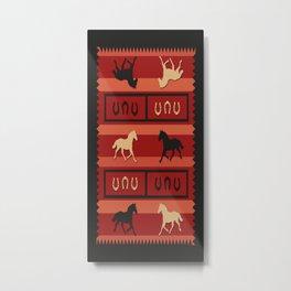 American Native Pattern No. 408 Metal Print