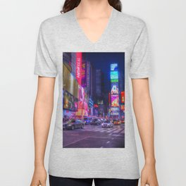 Times Square New York Unisex V-Neck