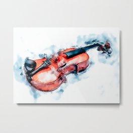 Violin Violin Violinist Gift Metal Print