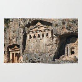 Lycian Tombs Cut From Rock Circa 400 BC Rug