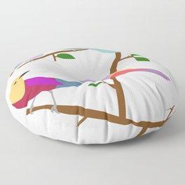 Birds on a tree Floor Pillow