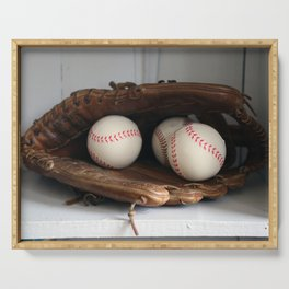 Baseball Glove Serving Tray