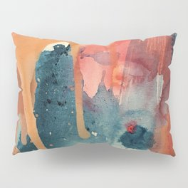 Pour Some Sugar on Me: a colorful mixed media abstract in pinks blues orange and purple Pillow Sham