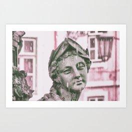 statue Lisbon Art Print