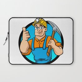 miner hold the pick axe Laptop Sleeve