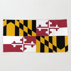 State flag of Flag Maryland Beach Towel