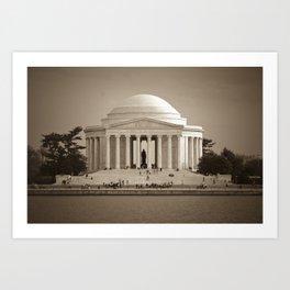 Thomas Jefferson National Memorial :: Washington DC Art Print