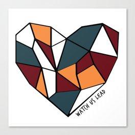 Watch Us Lead (Mosaic Heart) Canvas Print