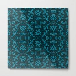 Thistles on Blue Metal Print
