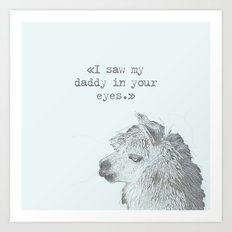 Daddy Lama Art Print