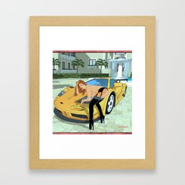 Car Fetish Framed Art Print