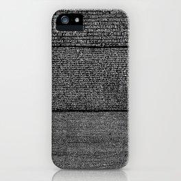 The Rosetta Stone // Black iPhone Case