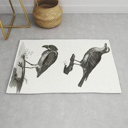 Thrush and a Boat-Billed Heron by Johan Teyler (1648-1709) Rug